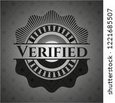 verified black emblem | Shutterstock .eps vector #1221685507
