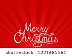 winter holiday red striped... | Shutterstock .eps vector #1221685561