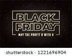 black friday glossy gold future ... | Shutterstock .eps vector #1221696904