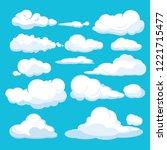 cartoon clouds. blue sky aerial ...   Shutterstock .eps vector #1221715477