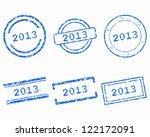 stamps 2013 | Shutterstock .eps vector #122172091