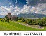 july 14  2018. vaduz castle ... | Shutterstock . vector #1221722191
