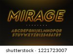 vector trendy neon light or... | Shutterstock .eps vector #1221723007