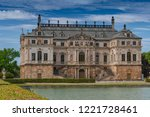 july 7  2018. the sommerpalais  ... | Shutterstock . vector #1221728461