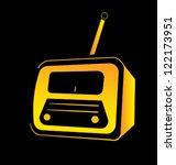 vintage radio | Shutterstock .eps vector #122173951