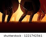 vector illustration of ancient... | Shutterstock .eps vector #1221742561