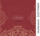abstract vector elegant luxury... | Shutterstock .eps vector #1221744604