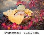 cute newborn baby in a funny... | Shutterstock . vector #122174581