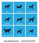 afghan hound,american foxhound,basset hound,boston terrier,caucasian shepherd dog,dalmatian dog,dogo,foxterrier,german boxer,graphic,great dane,hunting,icon,illustration,isolated