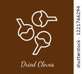 dried cloves icon. flavoring... | Shutterstock .eps vector #1221766294
