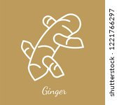 ginger rhizome icon. flavoring... | Shutterstock .eps vector #1221766297