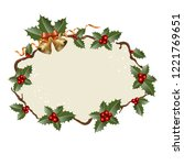 christmas background with... | Shutterstock .eps vector #1221769651