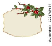 christmas background with... | Shutterstock .eps vector #1221769654