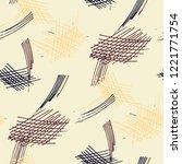 various hatches. seamless...   Shutterstock .eps vector #1221771754