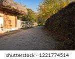 korean traditional village and... | Shutterstock . vector #1221774514