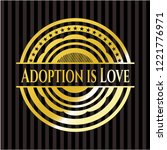 adoption is love gold shiny... | Shutterstock .eps vector #1221776971