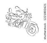 scooter sketch. bike print.... | Shutterstock .eps vector #1221802621