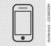 smartphone icon in flat style.... | Shutterstock .eps vector #1221803284