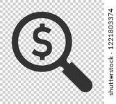 magnify glass with dollar sign...