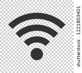 wifi internet sign icon in flat ... | Shutterstock .eps vector #1221803401