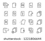 set of document icons  such as... | Shutterstock .eps vector #1221806644