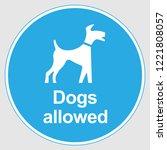 "mandatory sign  ""dogs on lead... | Shutterstock .eps vector #1221808057"