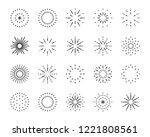 firework line icon set  happy... | Shutterstock .eps vector #1221808561