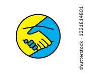 handshake icon logo   Shutterstock .eps vector #1221814801