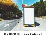 empty billboard placeholder... | Shutterstock . vector #1221821704