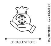 venture capital linear icon.... | Shutterstock .eps vector #1221823594