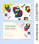 modern typographic  isometric...   Shutterstock .eps vector #1221825784