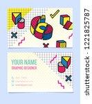modern typographic  isometric...   Shutterstock .eps vector #1221825787