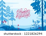 vector illustration in trendy... | Shutterstock .eps vector #1221826294