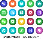 round color solid flat icon set ... | Shutterstock .eps vector #1221827074