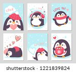 hello winter  little cute... | Shutterstock .eps vector #1221839824