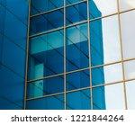 mirrored windows of the facade... | Shutterstock . vector #1221844264