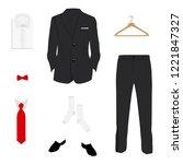 vector illustration. elegant ... | Shutterstock .eps vector #1221847327