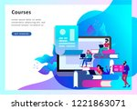 concept landing page template... | Shutterstock .eps vector #1221863071