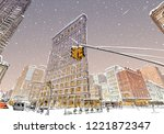 trendy cover template. winter... | Shutterstock .eps vector #1221872347