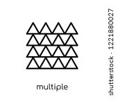 multiple triangles triangle... | Shutterstock .eps vector #1221880027