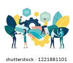 business concept vector... | Shutterstock .eps vector #1221881101