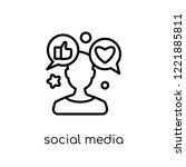 social media specialist icon.... | Shutterstock .eps vector #1221885811