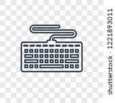 keyboard concept vector linear... | Shutterstock .eps vector #1221893011