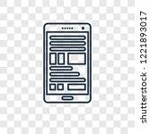 blog concept vector linear icon ...   Shutterstock .eps vector #1221893017