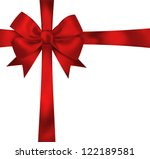 beautiful red ribbon and bow... | Shutterstock . vector #122189581