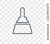 broom concept vector linear... | Shutterstock .eps vector #1221901474