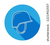 soldier helmet line icon with...