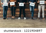 low section of people standing... | Shutterstock . vector #1221904897