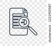detection concept vector linear ...   Shutterstock .eps vector #1221905587