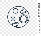 mars concept vector linear icon ... | Shutterstock .eps vector #1221905704
